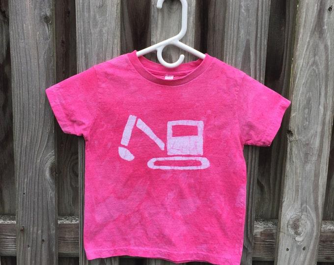 Kids Excavator Shirt, Kids Truck Shirt, Kids Digger Shirt, Pink Truck Shirt, Girls Construction Shirt, Girls Truck Shirt, Boys Truck (4/5)