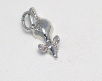 dainty 3D mouse charm pendant sterling silver 4 bracelet or necklace animal pet cat theme designer Rembrandt Charms fine jewelry