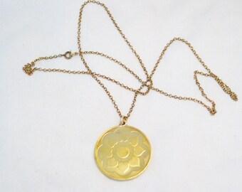 24 inch chain necklace w/ sterilng silver heart flower medal medallion pendant w/ 24k gold plating Blingschlingers jewelry adoption center