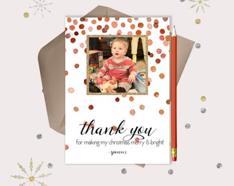 Christmas Thank You Cards · give thanks for your holiday gifts in style