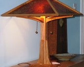 Handmade Mission Style Hardwood Lamp (Shown in Cherry)