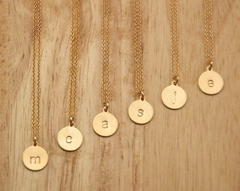 Gold Bridesmaid Wholesale Necklace Set - Wholesale Jewelry Gift - Personalized Initial Bridesmaid Necklace Set of 6 Bridesmaid Jewelry Idea
