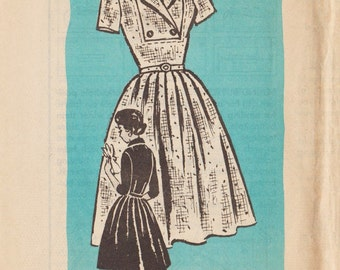 Vintage Mail Order Sewing Pattern 4911 / Dress / Size 14 Bust 34