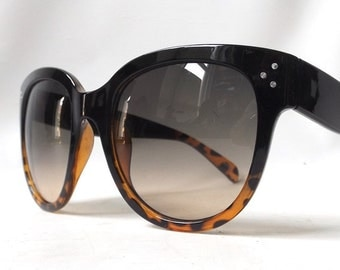 vintage 1990's womens sunglasses round black plastic frames tortoise shell fashion accessories accessory retro modern sun glasses eyewear
