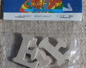 Letter F, 1.5 inch Wooden Letters by Craft It, Natural Color