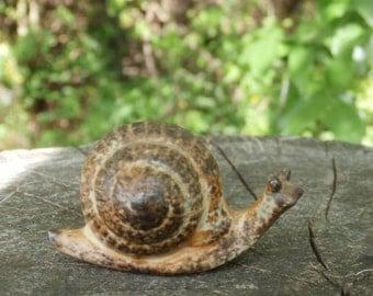 Stoneware Japan Snail Figurine, Vintage Miniature Figure