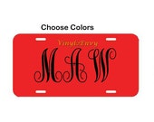 Personalized License Plate Monogram - Car Decal - Vinyl Car Decal, Personalized Decal, Custom License Plate, License Plate Sign