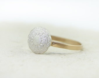 Lace Design Ring in Fine Silver | Gold Filled | Silver | Copper | Unique Ring Band