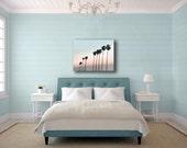 Palm Tree Canvas, Blue, Pink, 16x20 Canvas, Large Canvas Wall Art, Pastel Beach House Decor, Tropical Decor
