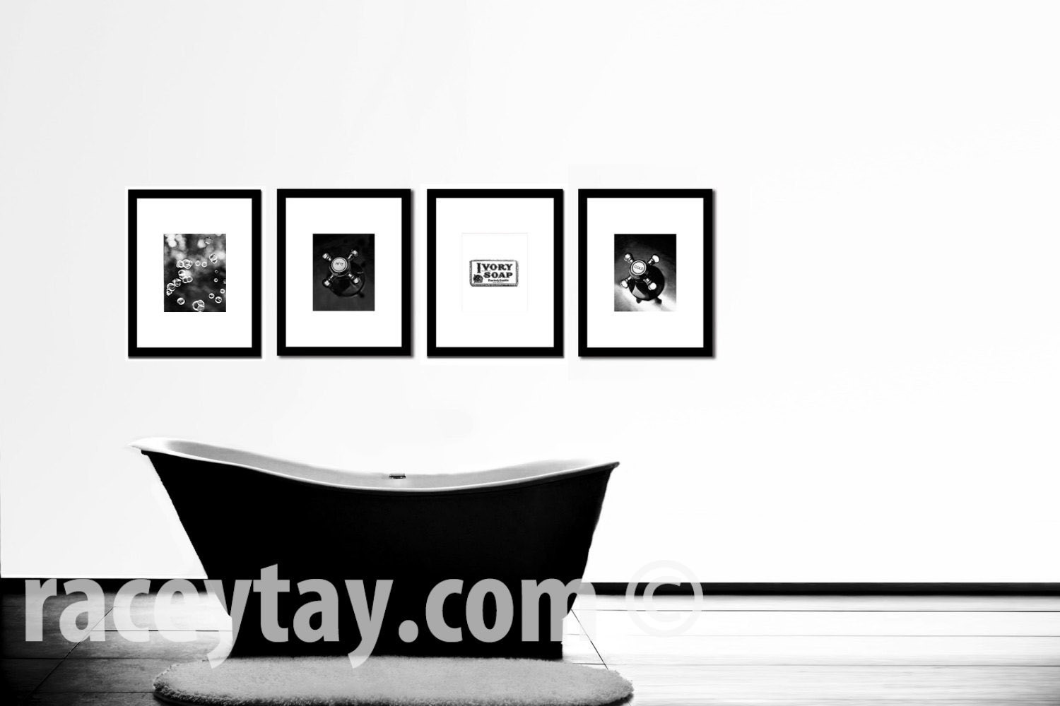 Black and white prints for bathroom -  Zoom