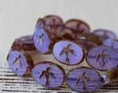 Czech Glass Bird Beads For Jewelry Making - Czech Glass Swallow Bead - 12x16mm Oval Bird Bead - Lavender Opaline - Choose Amount