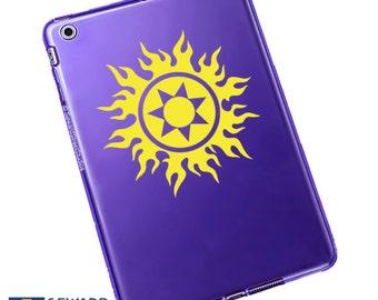 Tribal Sun Decal / Tribal Sun Laptop Sticker / Tribal Sun Laptop Decal / Tribal Sun Car Sticker / Tribal Sun Sticker / 4.50h x 4.50w / #017