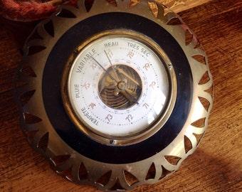 Vintage french barometer - La France -  temperature meter - vintage home decor - vintage - French weather forecast - storm  - sunny day