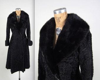 1950s amazing princess coat • vintage 50s coat • winter fur coat