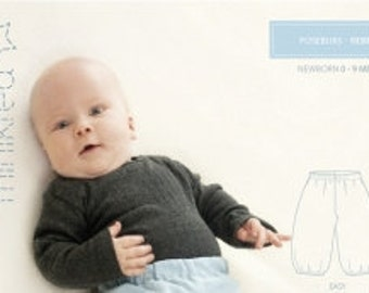 Minikrea 10300 Baggy Trousers Sewing Pattern for Baby Dänish Design