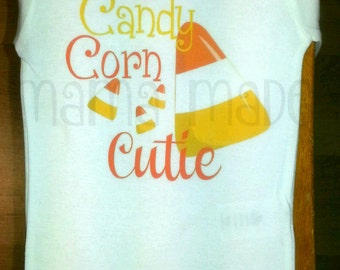 Candy Corn Cutie Shirt , Candy Corn Shirt, Candy Corn Cutie Shirt, halloween Candy Shirt, Girls halloween Shirt, Girls Candy Tee
