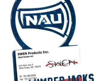Northern Arizona Lumberjacks Metal Business Card Holder