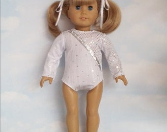 18 inch doll clothes - #104 White Leotard handmade to fit the American Girl Doll - Free Shipping