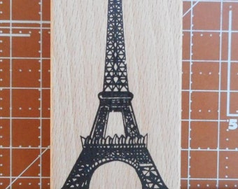 Eiffel Tower Rubber Stamp NEW
