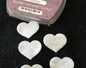 Felt Mini White Hearts -DIY Kits for Independent Consultants Parties-Hair Accessories Decorations-Costume Embellishments-Felt Heart Applique