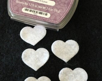 Felt Mini White Hearts -DIY Kits for Independent Consultants Parties-Hair Accessories Decorations-Costume Embellishments-Felt Heart Applique