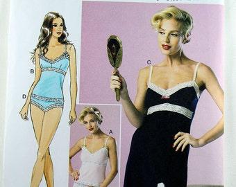 Butterick 6031, Misses' Camisole, Slip and Panties Sewing Pattern, Lingerie Sewing Pattern, Misses' Patterns, Misses Size 14 - 22, New/Uncut