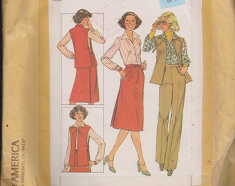 Simplicity 8154 Misses' Blouse, Tabard, Pants and Back-Wrap Skirt