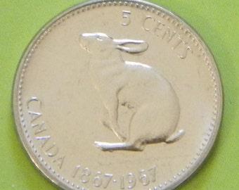 Canada - Rabbit Coin  / 1967 / Nickel / 5 cents