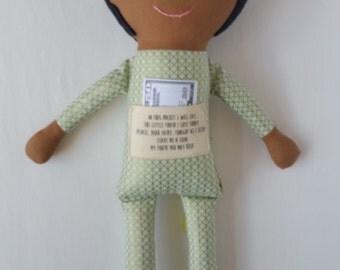Matthew/Dark - maylo studio cloth doll rag doll custom handmade modern