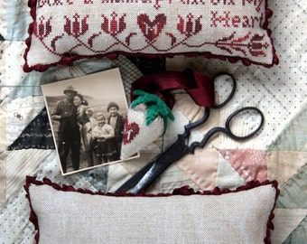 Handprint on My Heart : Cross Stitch Pattern by Heartstring Samplery