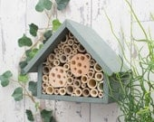 Bee Hotel, Bee House, Large, in 'Wild Thyme'. Can be personalised.