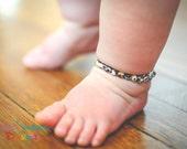 Children's Amber Teething Bracelet & Anklet - Baltic Amber Bracelet-Amber Teething Bracelet- Mosaic Amber Bracelet by Smile Sunshine Designs