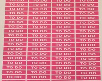 "Deep Pink ""To Do"" Section Header Die-cut Sticker Sheet"