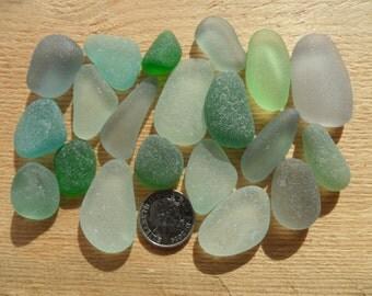 20 Pendant Pieces - Beautiful English Seaham Sea Glass - Free Shipping (4785)