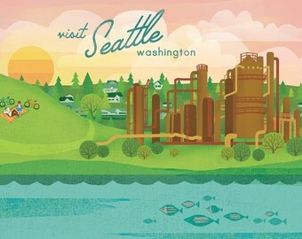 Seattle (Gas Works Park) Print
