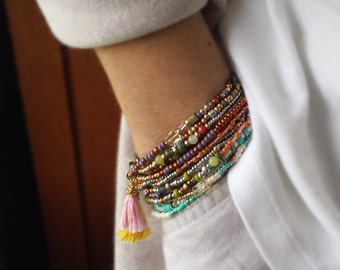 Kokopelli Combo Beaded Wrap Bracelets - Choose One or All Three