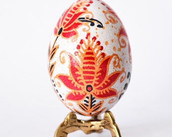 Pysanka egg etched with acid reverse coloring amazing gifts for mom something she remember as a child making with her Slavic granny