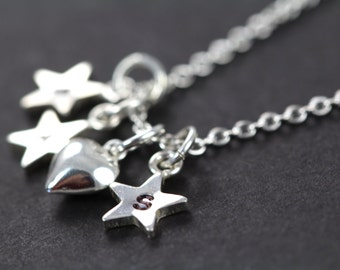 Jewelry for Mom , Personalized Mothers Day Gift Initial Necklace Jewelry for Mom 925 Sterling Silver