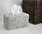 Modern Tissue Box Cover Woodland Nursery Decoration Oatmeal Home Decor Kleenex Box Cover