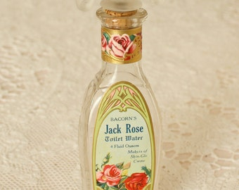 Antique Perfume Bottle Jack Rose Bacorn Co.