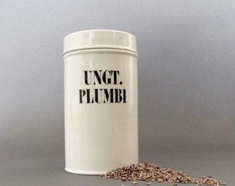 European Porcelain Apothecary Jar Circa 1930's - Chemist Jar