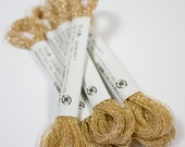Cosmo, Sparkle Floss, 76-2,  Single Strand Metallic Floss, Champagne Gold Embroidery Floss