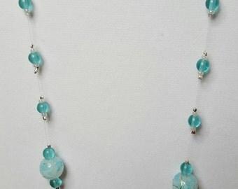 Celestial Blue Floating Necklace