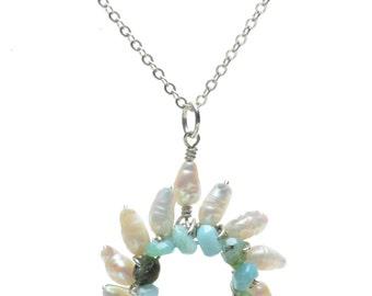 Small Sunburst Pendant Necklace