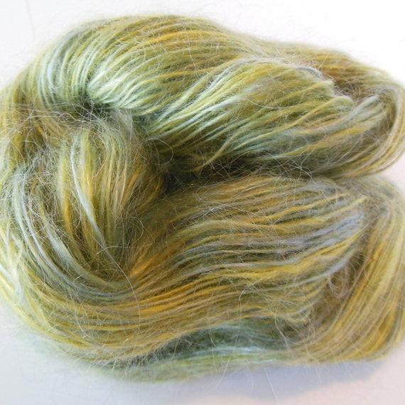 Lace Weight Yarn : Hand Spun Mohair Yarn Lace Weight Yarn Spring by gardnersfarm