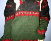 Woolrich Wool Mallard Duck Geese Sweater.  Woolrich Wool Sweater.  Woolrich Duck Sweater.