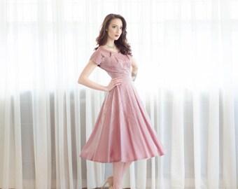 Vintage 50s Party Dress - 1950s Dress - Dolce Baci Dress