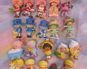 Vintage Strawberry Shortcake Mini PVC Figures - Lot of 19