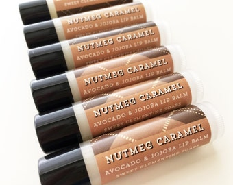 Nutmeg Caramel Lip Balm, Halloween Lip Balm, Fall Lip Balm, Autumn Lip Balm, Nutmeg, Caramel