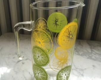 Vintage Pyrex Glass Lemonade Limeade Pitcher Jug